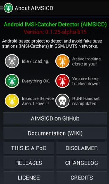 Android IMSI-Catcher Detector