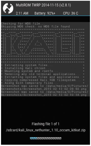 Kali-nethunter-multiROM