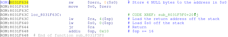 Первая ROP-цепочка для эксплойта в WRT120N