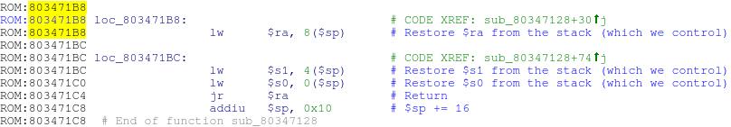 Вторая ROP-цепочка для эксплойта в WRT120N