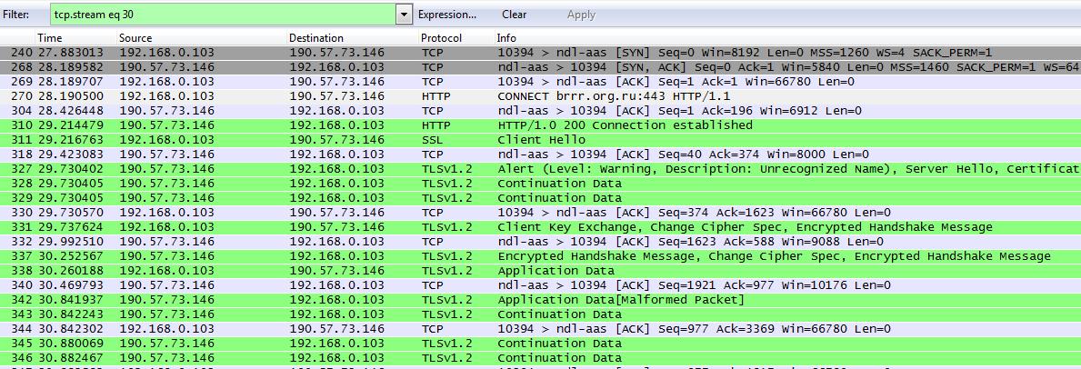 Подключение по HTTPS через proxy