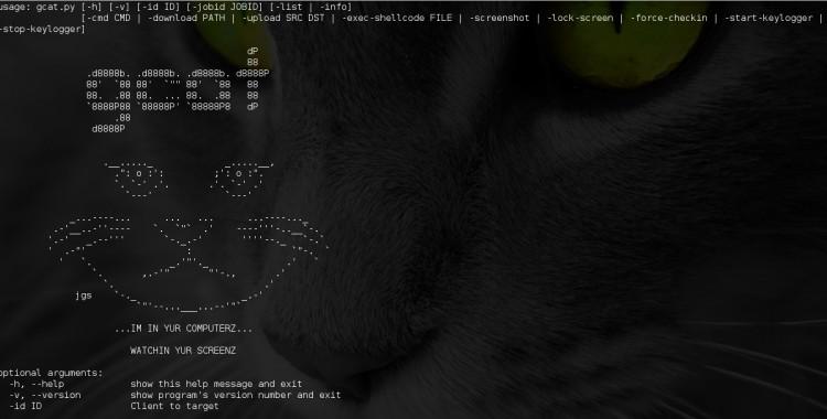 GCAT бесплатный троян на Python.