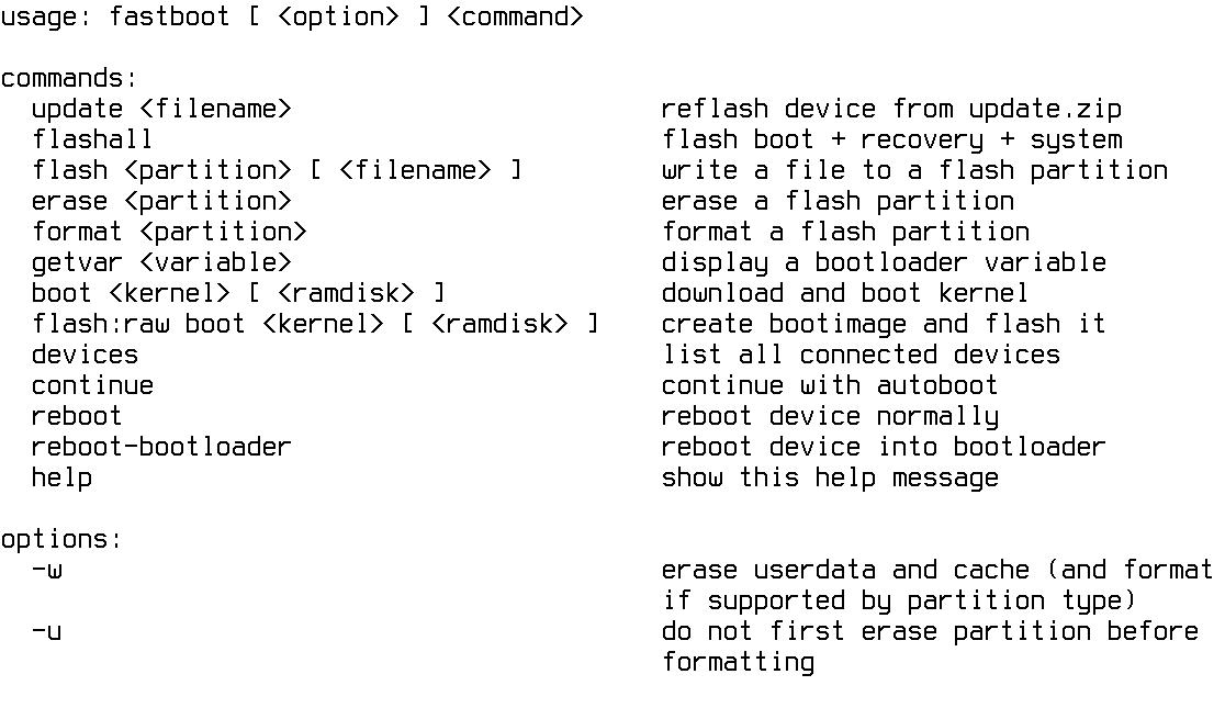 Fastboot— просто клад для исследователя