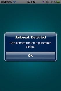 jailbraik detected