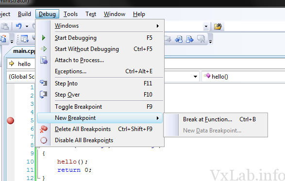Visual Studio Debug