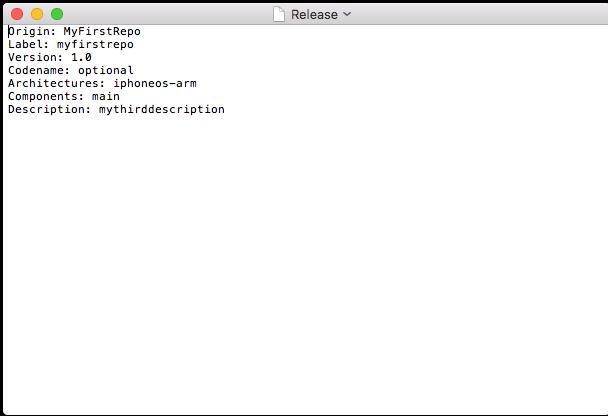 Заполненный файл Release cydia