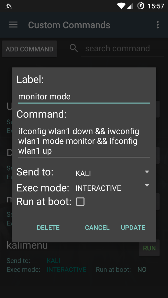 monitor mode android