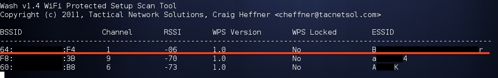 взлом WIFI WPS