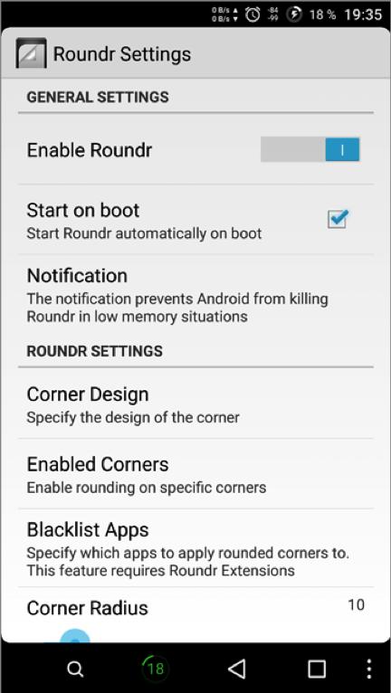 как изменить интерфейс Android