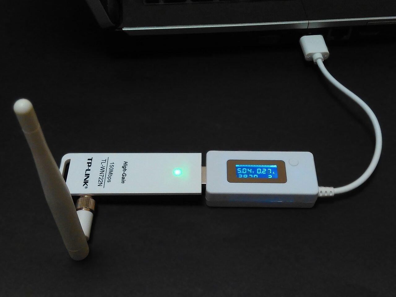 TL-WN722N потребляет 1368 мВт в режиме мониторинга