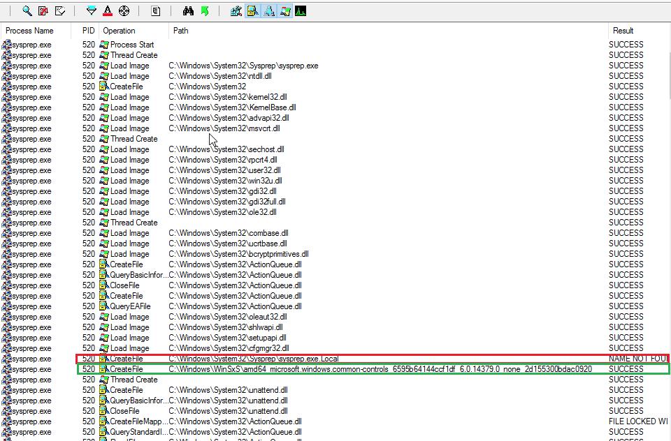 Диспетчер процессов показывaет создание каталога .local