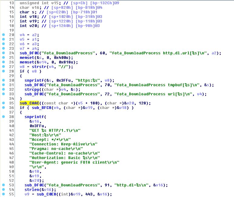 Доступ к серверу FOTA из /sbin/fotad