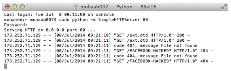 Attack Secure Screenshot of Facebook remote calls