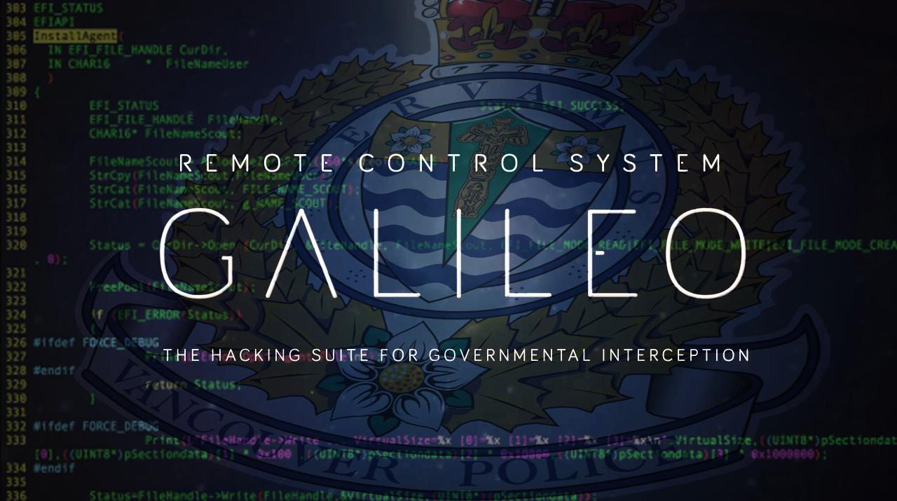 Слежка за удаленным компьютером с помощью системы Galileo.