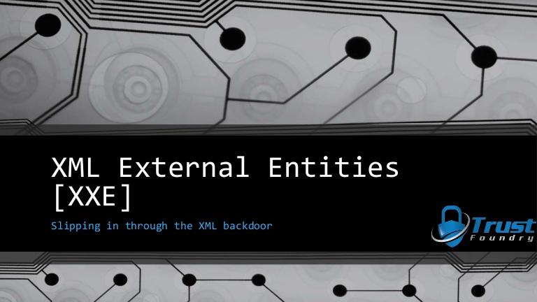 Уязвимость XML External Entity