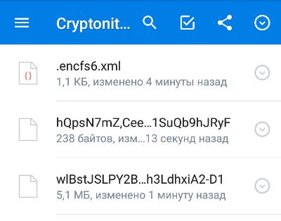 Зашифрованные файлы в Dropbox и метка EncFS