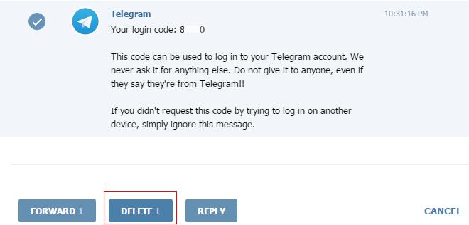 Заметаем следы после клонирования веб-сессии в Telegram