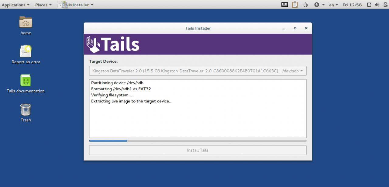 Параноидальная анонимность с помощью Tails и VirtualBox