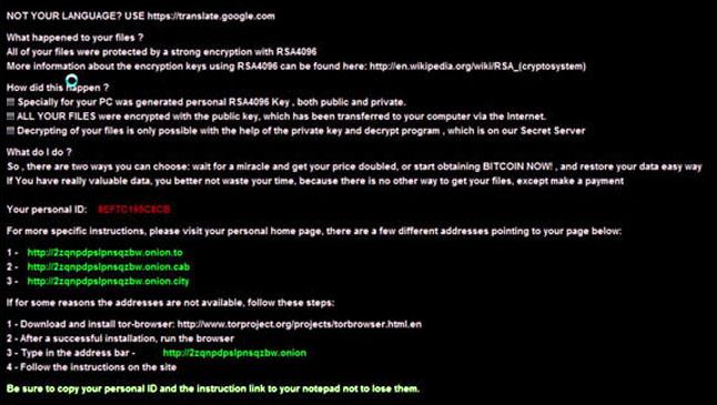 Рис. 7. CryptXXX Ransom Note содержит тот же текст