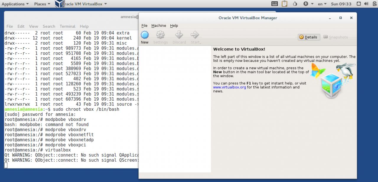 VirtualBox, запущенная в 64-битной песочнице