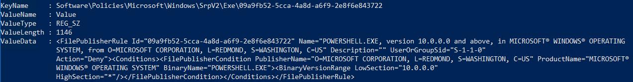 Пример запрещающего правила AppLocker
