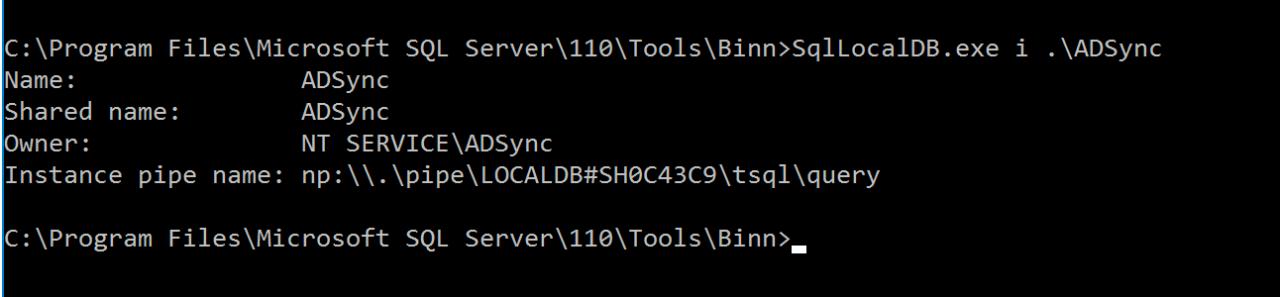 Пример работы SqlLocalDb.exe