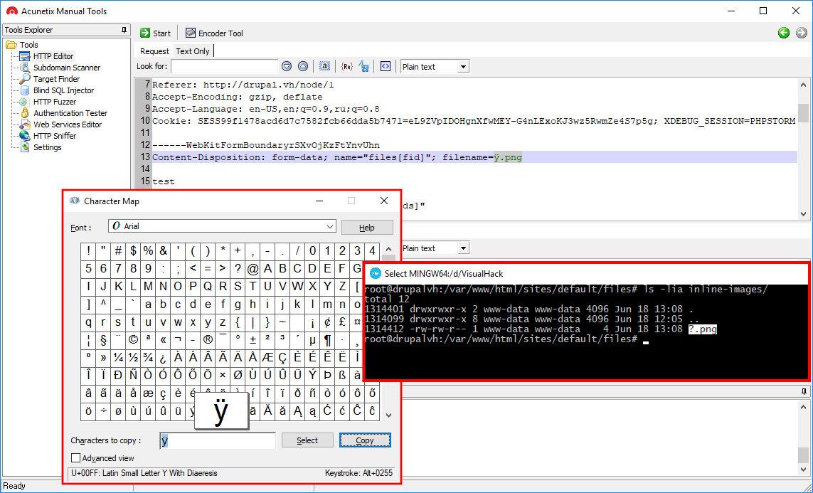 Загрузка файла, содержащего символы UTF-8