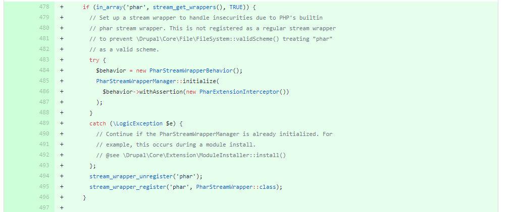 Патч для уязвимости PHAR Unserialize в Drupal