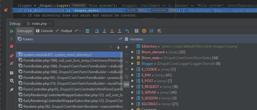 Указанный путь попадает в функцию is_dir без какой-либо фильтрации