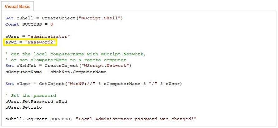 Пример VBS-скрипта с официального сайта MSDN