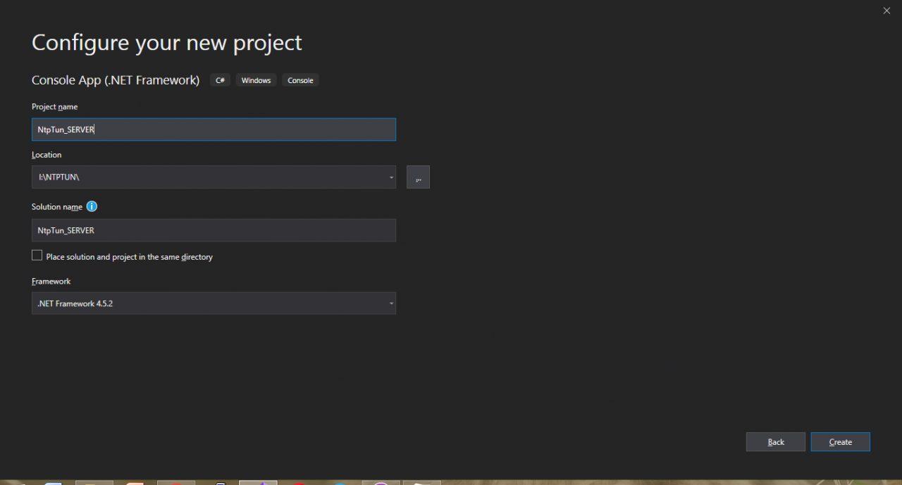 Создание проекта