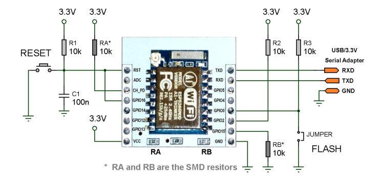Cхема подключения отдельного модуля