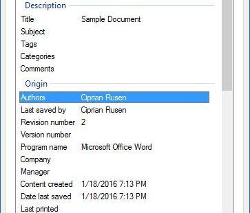 Как удалить метаданные файла