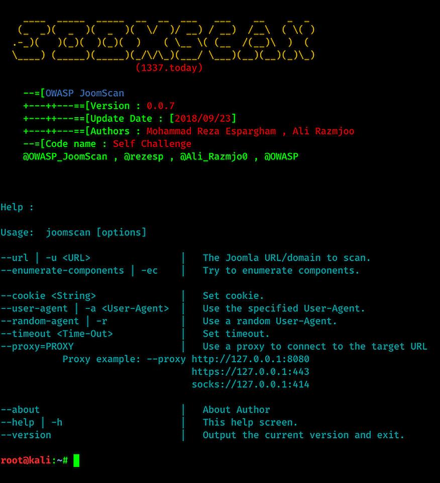 Help JoomScan