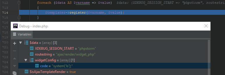 Сопоставление параметров из запроса переменным в шаблоне виджета