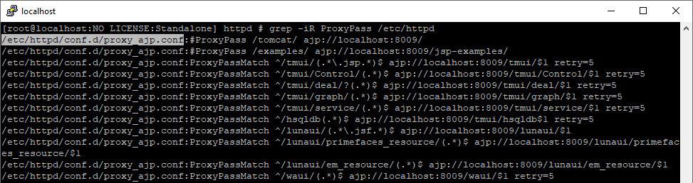 Поиск директивы проксирования в конфигах httpd