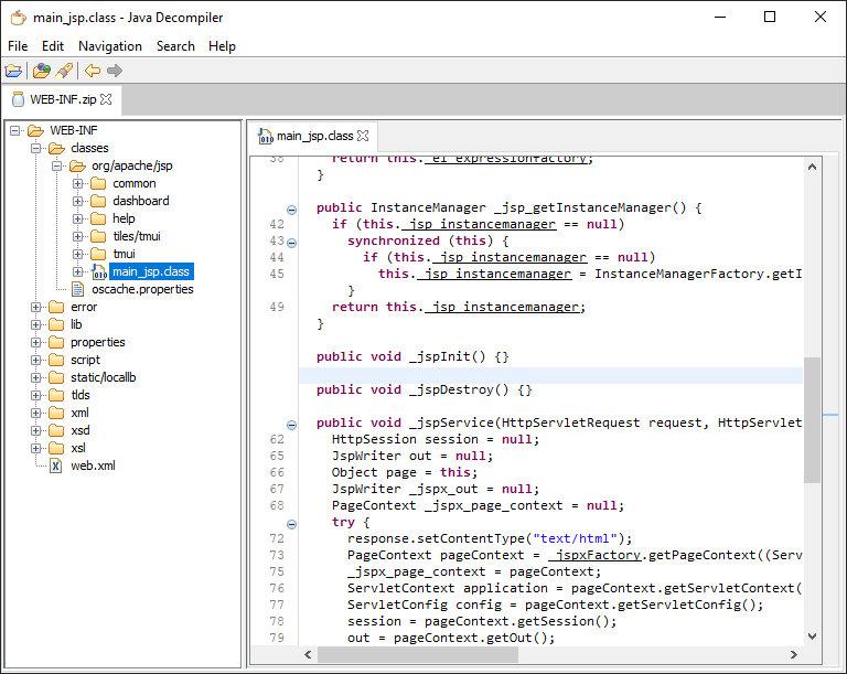 Декомпиляция классов BIG-IP в JD-GUI
