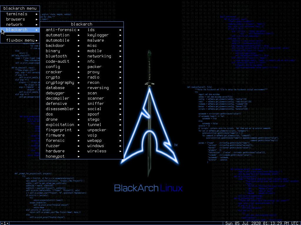 Группы приложений BlackArch