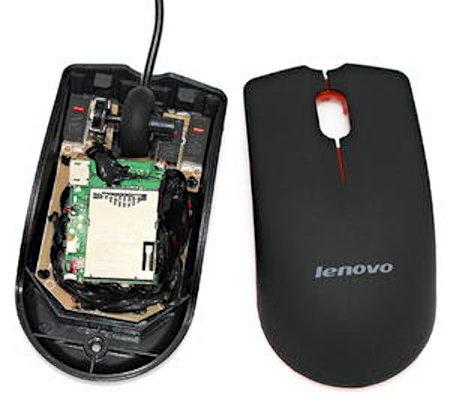 Компьютерная мышь со встроенным GSM-жучком