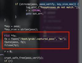 Перехват ключа и пароля в Linux