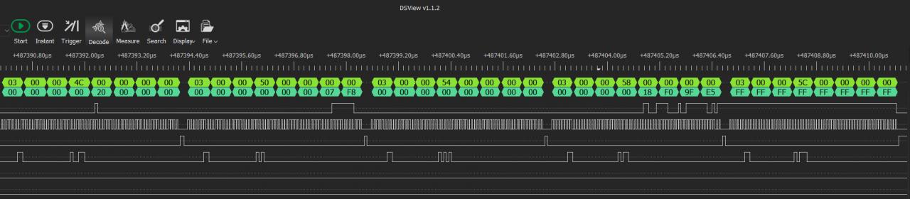 Скриншот одной из первых попыток, 128 КБ лог не сохранил