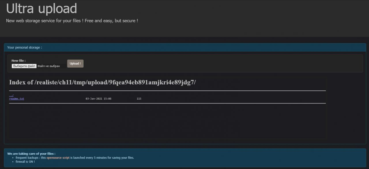 Интерфейс файлообменника