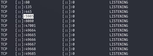 А по открытым портам определяем работающую службу WinRM.