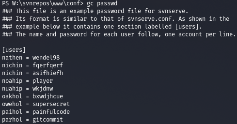 И в файле passwd есть много пар логинов и паролей.