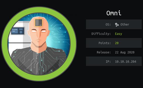 Как взломать легенький Windows IoT и прохождение Omni.