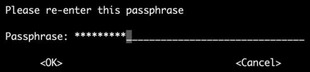 окно, в котором появится пароль.