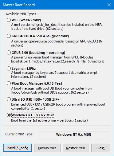 На системах с BIOS